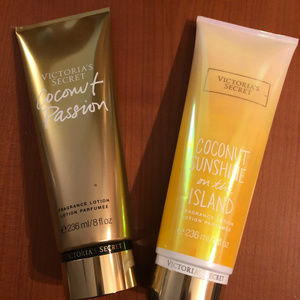 2 set: VICTORIA'S SECRET Coconut Brand LOTIONS